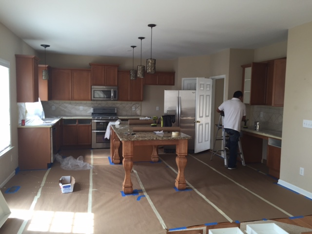 Interior walls, Cabinets, and Island (Before)